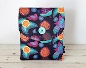 "iPad Air 2 Case, iPad Sleeve, iPad Cover - ""Chiapas Birds"" (purple, black, flowers, mexicana)- iPad Air Case"