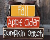 Fall Stacker Block Set - FALL APPLE CIDeR PUMPKIN PaTCH - Adorable Fall Decor