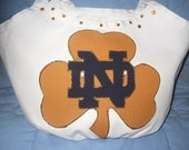 Notre Dame Fighting Irish Hobo Style Tote Bag , Purse, Carry-All, Grad Gift