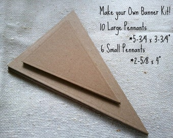 Do it yourself Pennant Banner Kit weddings, birthdays, parties, home decor