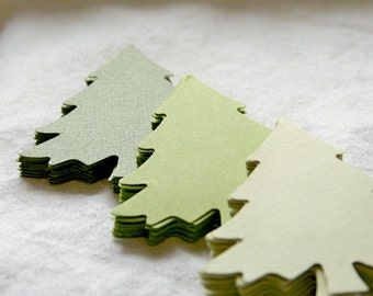 Die cut Christmas Tree Set of 45 Individual die cut tags