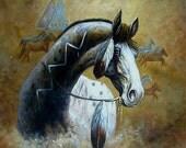 Stunning War Horse Tile