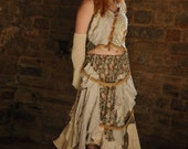 Gypsy pirate outfit Gypsy dress Pirate costume Bohemian clothing Boho dress Frilly Tattered summer dress Size medium M UK 12 - 14 US 8 - 10