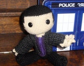 9th Doctor Who Sackboy reserved for knittergurl