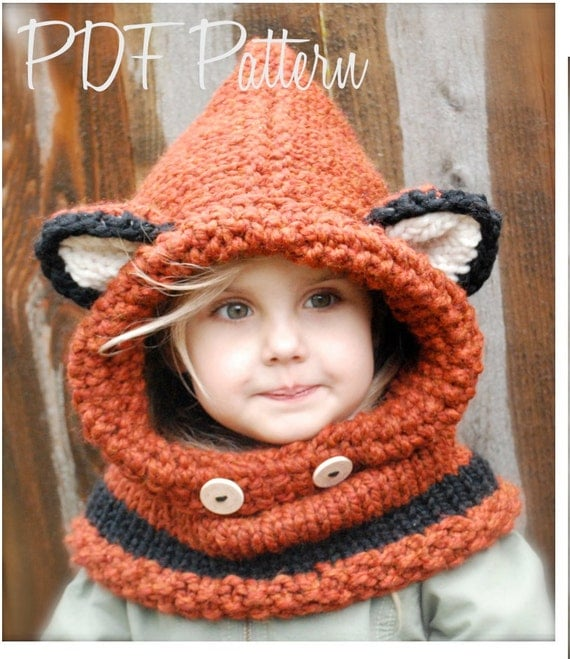 KNITTING PATTERN - Failynn Fox Cowl (12/18 months - Toddler - Child - Adult sizes)