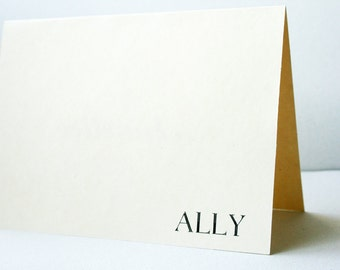 Personalized Notes / Stationery -- A L L Y --  Stationery Set of Custom Notes & Envelopes -- CHOOSE YOUR QUANTITY
