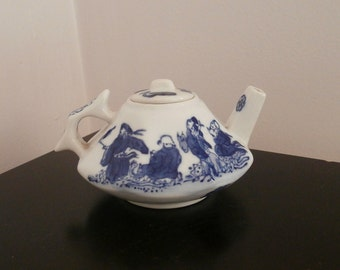 Asian Scene Decorative Teapot