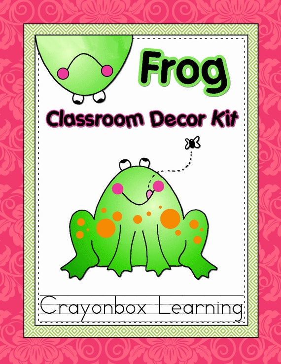 Classroom Decor Kit ~ Frog classroom decor kit by crayonboxlearning on etsy