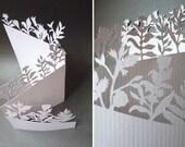 Hand Cut Botanical Concertina Greetings Card