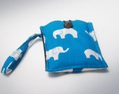 Eco Friendly - iPhone iTouch Smartphone - Gadget Case in Organic Cotton Elephant Print