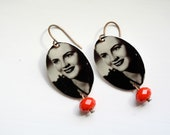Hungarian Beauty Vintage Photo Earrings