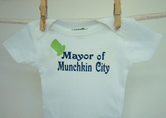 Wizard of Oz Onesie, Mayor of Munchkin City, Funny Baby Onesie, Bodysuit, Wizard of Oz Baby, Munchkin, MORE COLORS