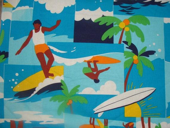 5 Y1970s Mod Surfers Child Juvenile Kawaii Cotton novelty yardage Retro Novelty fabric