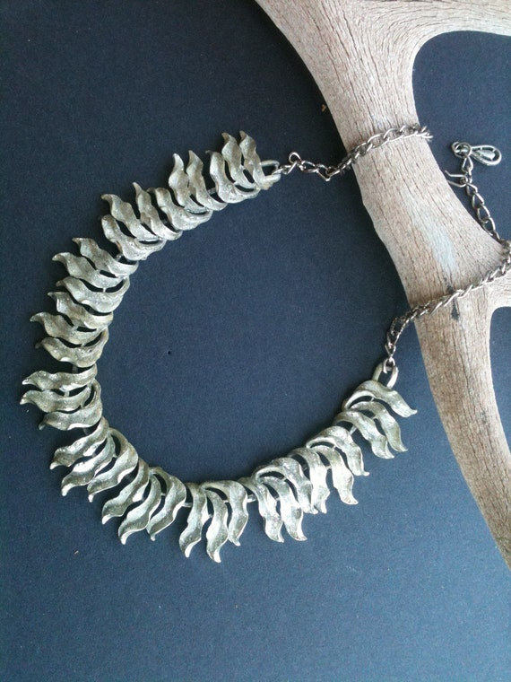 Vintage Fire Metal Necklace