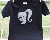 Silver Knight on Black Tee-shirt