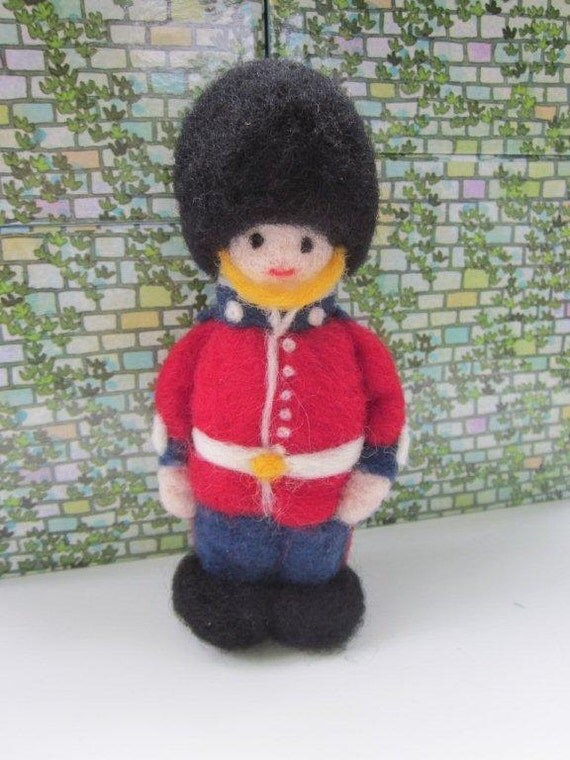 Toy Soldier - Needle Felted Wool Sculpture