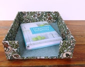 Fabric Wrapped Paper Tray/Inbox for Office, Studio,  or Dorm