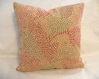 Fall Leaves Mosaic Chenile Pillow 16 x 16