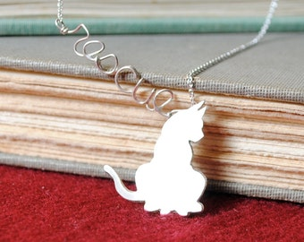RESCUE Sterling Silver Cat