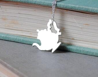 Fancy Teapot Necklace
