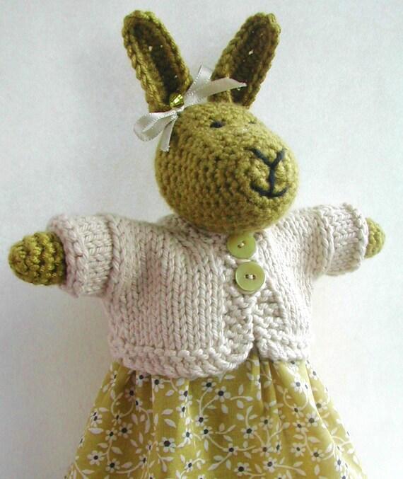 Olive Crocheted Rabbit
