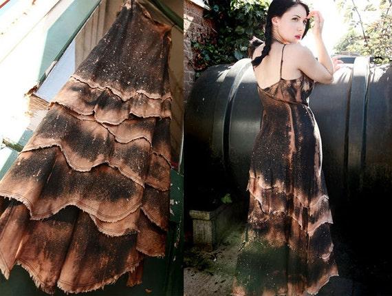 Steampunk Zombie Post Apocalyptic Neo Victorian Asymmetrical Tribal Dress