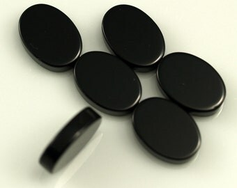 2 pcs Onyx 10x14 mm oval coin cabochon