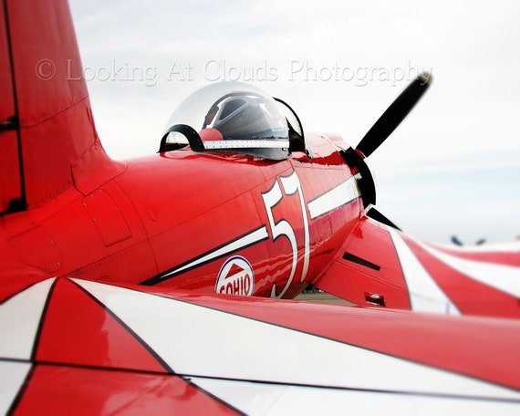RED Corsair F2G, aviation art photograph, airplane photo, for a pilot or aviation enthusiast