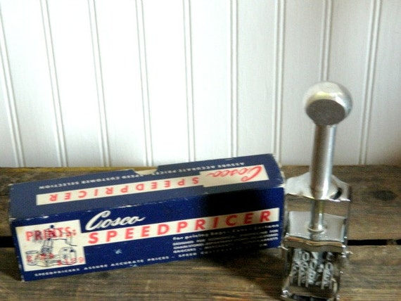 Vintage Number Stamper Office Decor Cosco Speedpricer Made in the USA