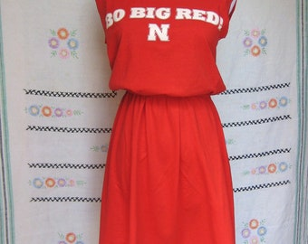 University of Nebraska Cornhuskers Red Game Day T Shirt Tee Dress