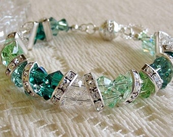 Swarovski Crystal Half Moon Bracelet