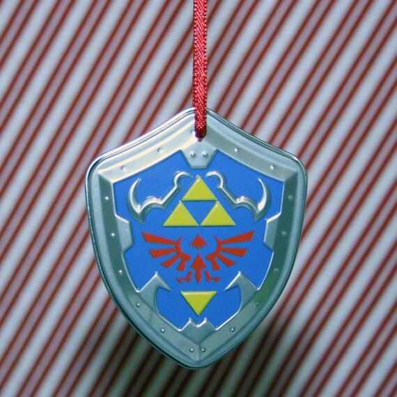Nintendo Legend Of Zelda Link Hylian Shield DELUXE Christmas Ornament