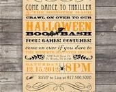 DIY vintage Halloween party invitation--customizable