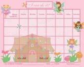 PRINTABLE Customizable Child Reward Chart / Chore Chart - Fairy Garden - Printable jpeg pdf