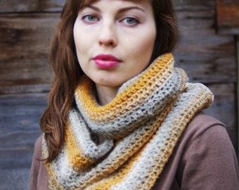Handknitted Kauni wool scarf  for woman. Handmade.