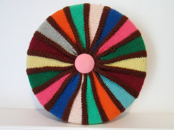 Colorful Pinwheel Pillow