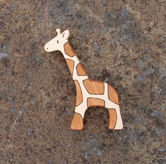 Wood Toy Giraffe, Maple - natural wooden toddler toy