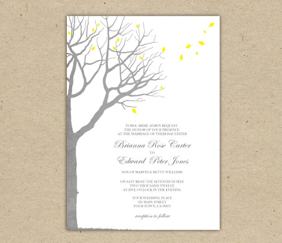 Items similar to wedding invitation template oak tree for Free printable confirmation invitations template