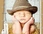 Baby cowboy hat - fedora hat - bucket hat - photo prop - western photo prop - made to order