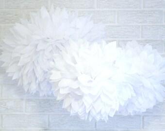 childrens party decorations ... 3 tissue paper pompoms // baptism  // christening // baby shower // weddings // birthday