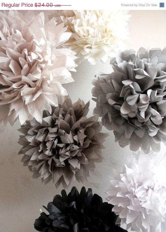 12 tissue paper wedding decorations pompoms tissue pom