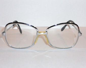 Eyeglasses Eyewear Silver Frames Vintage Italy