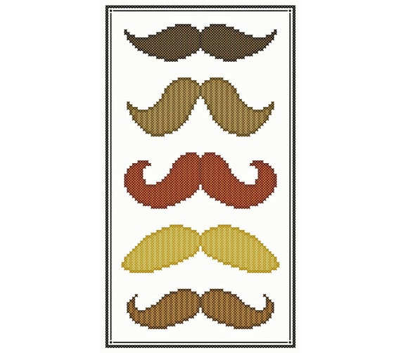 MUSTACHE COLLECTION Cross Stitch Chart