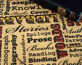 A Book Lover's Medley Cotton Fabric Fat Quarter