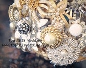 Vintage Brooch Bouquet - CUSTOM Made to Order- for LAURA