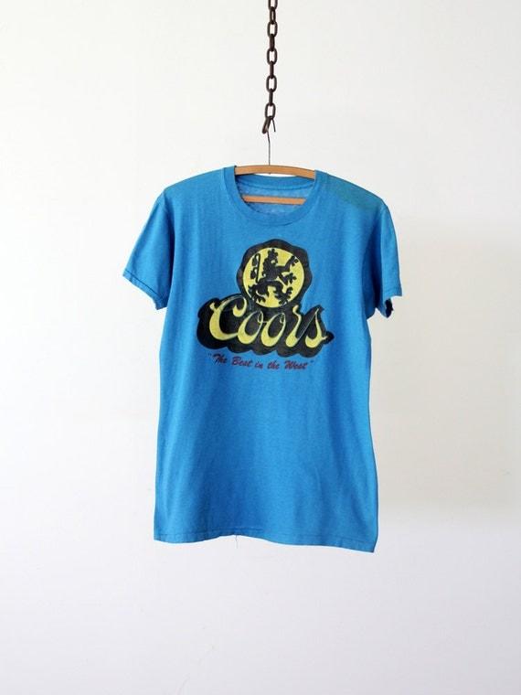 1980s Beer Tee / Vintage Coors T-Shirt