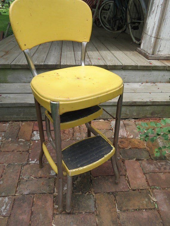 Vintage Cosco Step Stool Chair