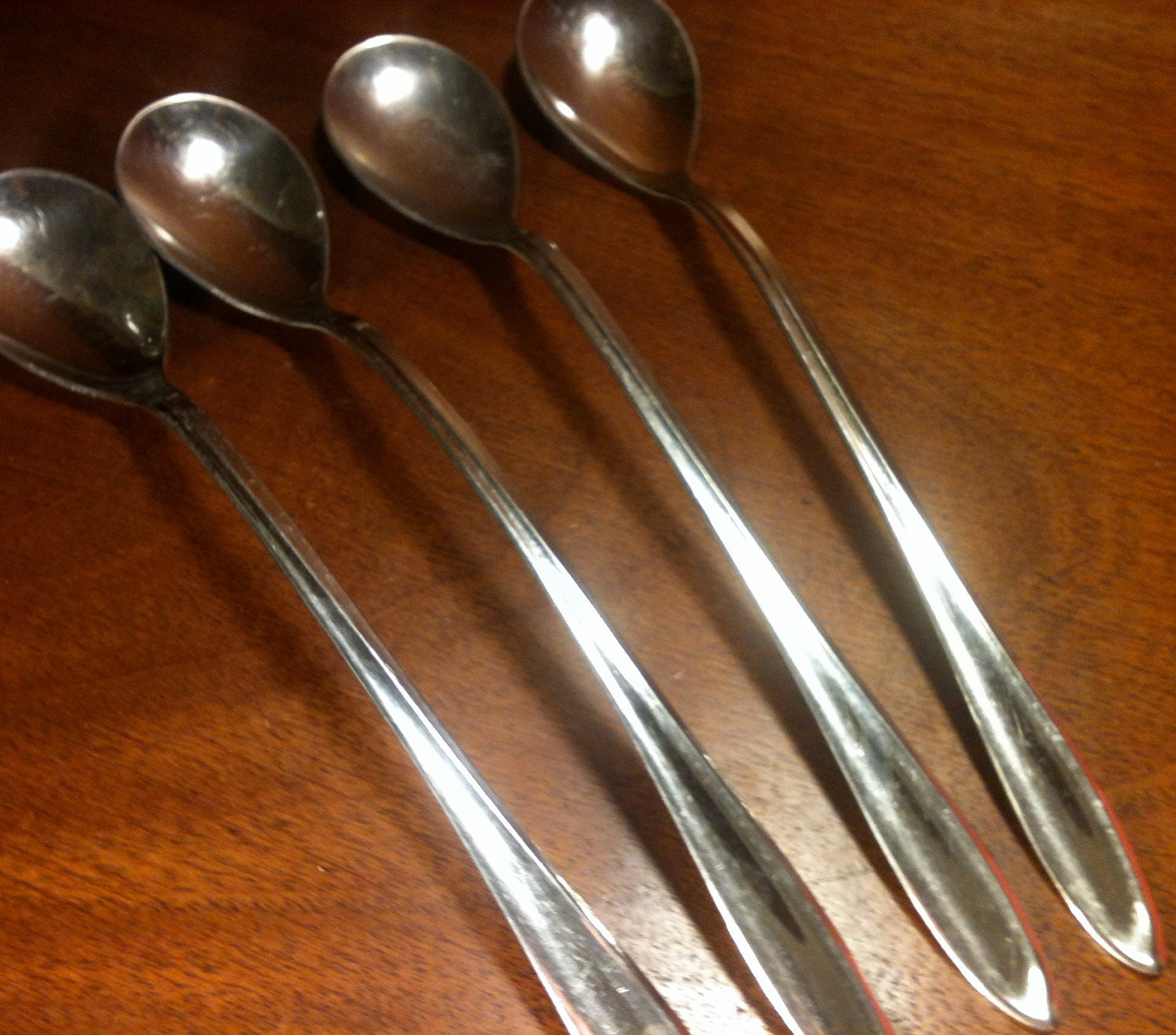 4 ice tea spoons from stegorcraft in sculptura by atomicholiday - Handmade gs silverware ...