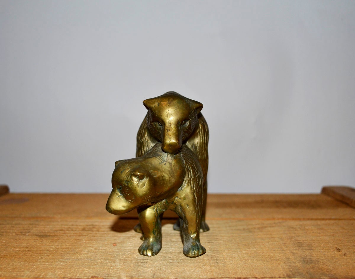 Bears In Love Brass Humping Bear Figurine