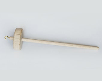 Top Whorl Drop Spindle - DIY Spin Your Own Yarn // Natural Finished Maple Wood